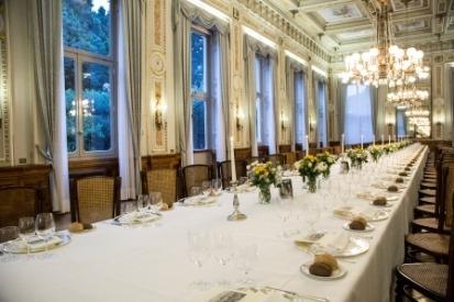 cena di gala tavolo imperiale